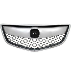 ACURA RDX GRILLE ASSEMBLY CHR/DK-GRAY (1PC W/UPPER&OUTER MLDG) OEM#71121TX4A01-PFM 2013-2015 PL#AC1200116