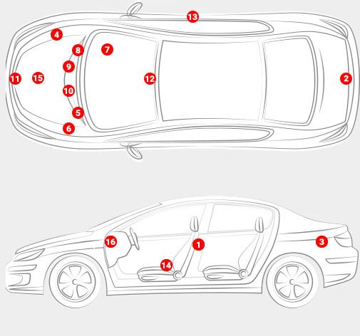 Auto Body Parts - Paint Car Code