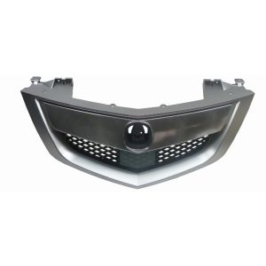 ACURA MDX GRILLE ASSEMBLY CHROME SATIN NICKEL/BLK (W/SENSOR BELOW EMBLEM) OEM#75100STXA12 2010-2013 PL#AC1200119