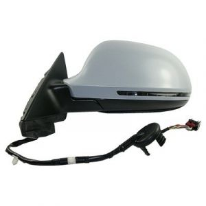 AUDI A3 DOOR MIRROR LEFT PWR/HTD/SIGNAL/M-FOLD (PTD CVR)(WO/DIMMER)(4PC IN BOX) OEM#8P1858531EB01C-PFM 2009-2010 PL#AU1320109