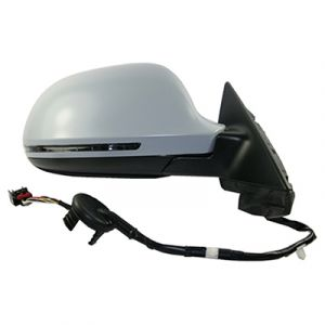 AUDI A3 DOOR MIRROR RIGHT PWR/HTD/SIGNAL/M-FOLD (PTD CVR)(WO/DIMMER)(4PC IN BOX) OEM#8P1858532EB01C-PFM 2009-2010