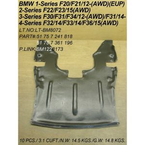 BMW BMW 2 SERIES CONV FRONT ENG UNDER COVER (AWD) OEM#51757241818 2015-2019 PL#BM1228173