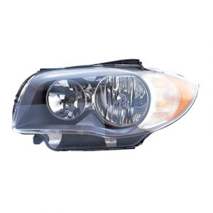 BMW BMW 1 SERIES CP/CONVT HEAD LAMP ASSEMBLY LEFT (HALOGEN)(TO 3-11)(OE Quality) OEM#63116924667 2008-2011