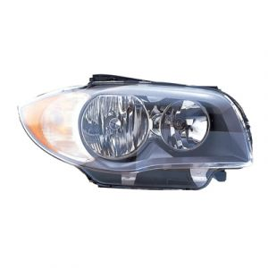 BMW BMW 1 SERIES CP/CONVT HEAD LAMP ASSEMBLY RIGHT (HALOGEN)(TO 3-11)**NSF** OEM#63116924668 2008-2011 PL#BM2519118N