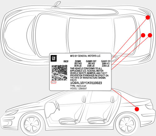Chevrolet Paint Code Locator