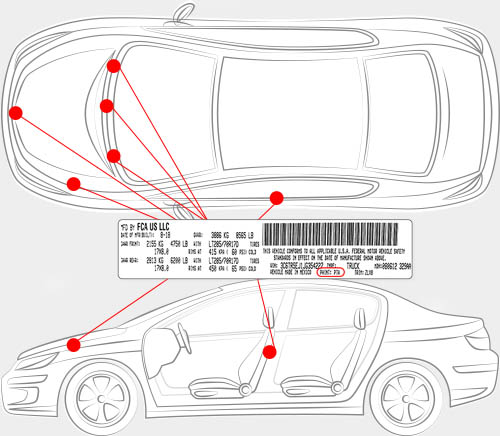Chrysler Paint Code Locator