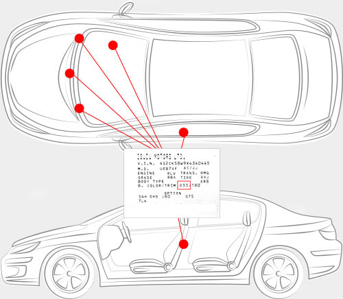 Isuzu Paint Code Locator
