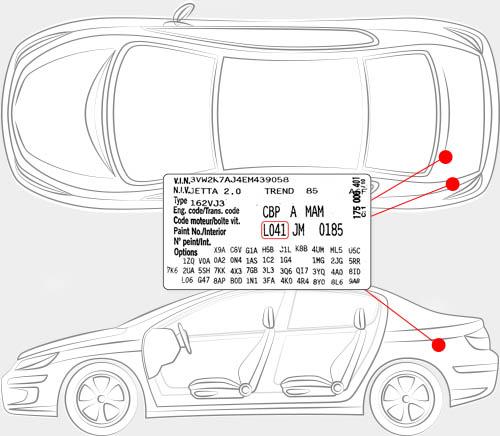 Volkswagen Paint Code Locator
